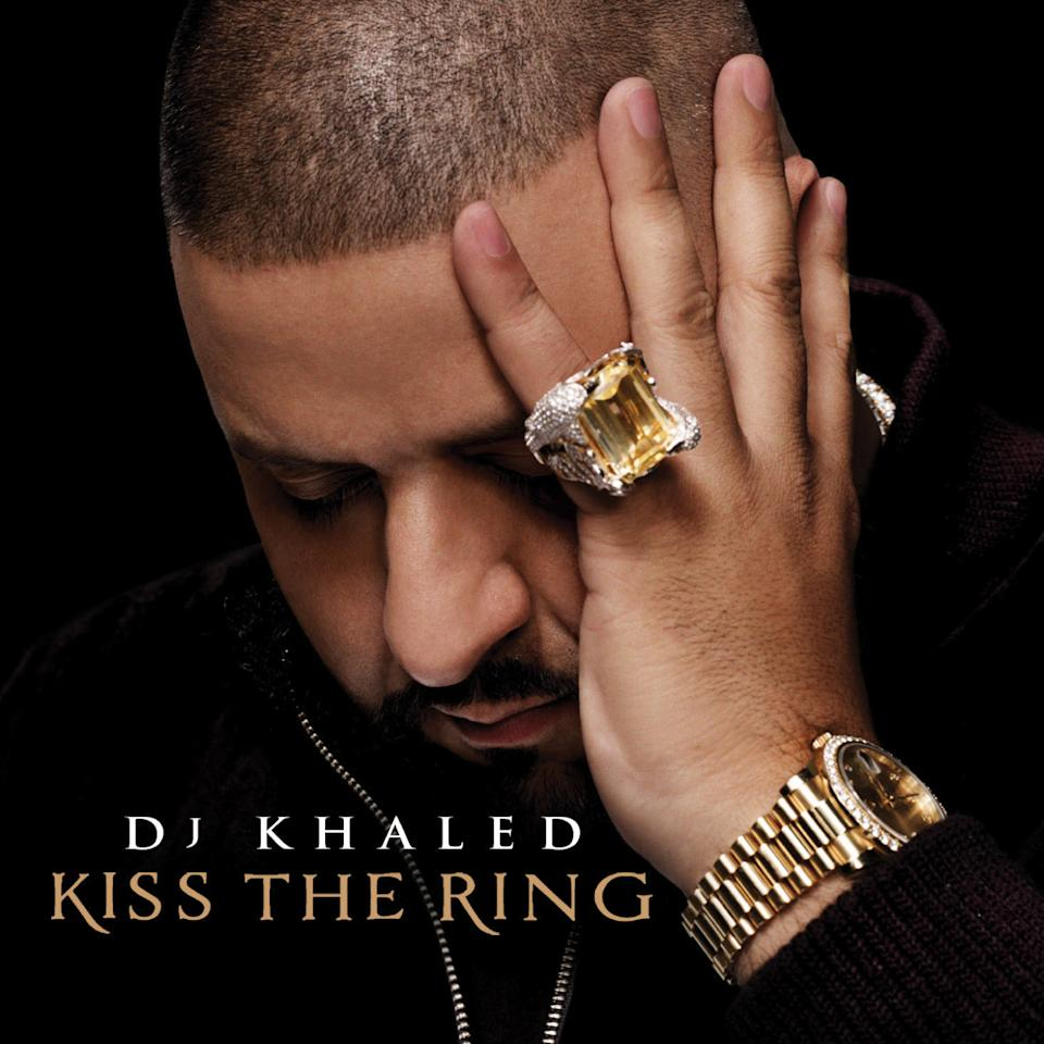 "This CD cover image released by Universal Republic Records shows ""Kiss the Ring,"" by DJ Khaled. (AP Photo/Universal Republic Records)"