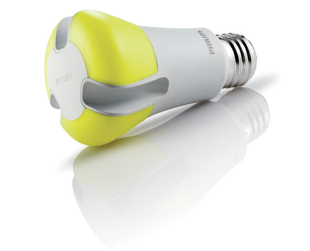 This product image provided by Philips shows a state-of-the-art LED light bulb. The bulb is the most energy-efficient yet, lasts about 20 years and is supposed to give off a pleasing, natural-looking
