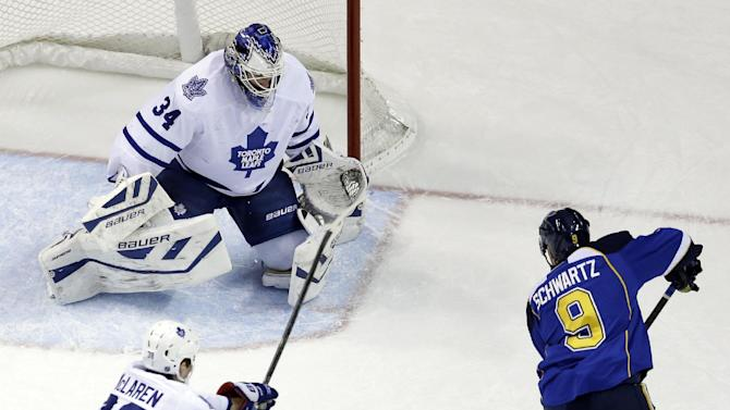 Backes scores twice as Blues beat Maple Leafs