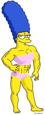 Marge (voiced by Julie Kavner) becomes a bodybuilder in the episode 'The Strong Arms of the Ma.' Fox's The Simpsons