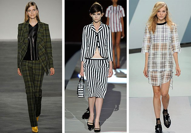 Phillip Lim, Marc Jacobs and Derek Lam check and stripes trend ...