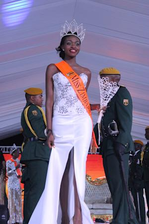 Miss Zimbabwe's crown is in naked picture scandle