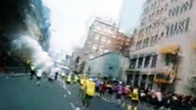 Raw: Runner's Head Camera Captures Blast