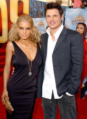 Jessica Simpson and Nick Lachey MTV Movie Awards 2005 - Arrivals Los Angeles, CA - 6/4/05