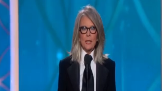 Diane Keaton Sang to Accept Her Friend Woody Allen's Award