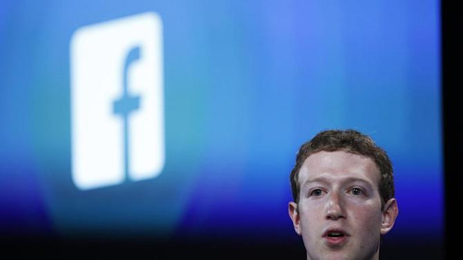 Mark Zuckerberg during a Facebook press event to introduce 'Home' a Facebook app suite that integrates with Android in Menlo Park