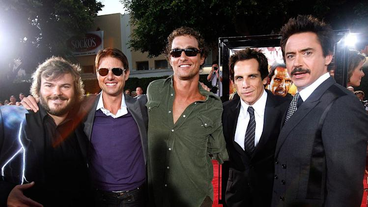 Tropic Thunder LA Premiere 2008 Ben Stiller Jack Black Matthew McConaughey Tom Cruise Robert Downey Jr