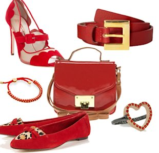 Valentines Day red accessories