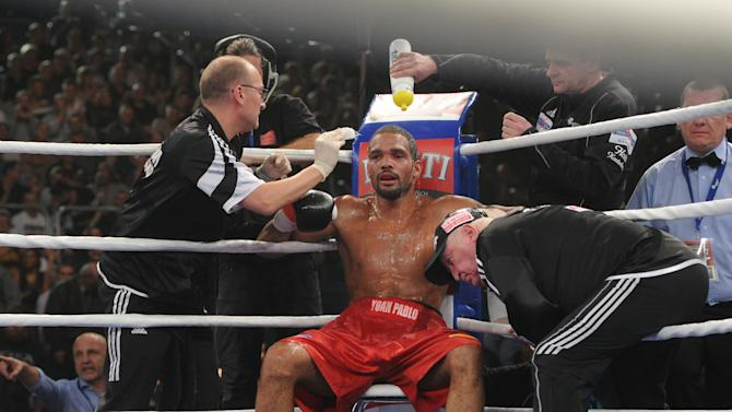 Cuba's World cruiserweight champion Yoan Pablo Hernandez (C), pictured on November 23, 2013 in Bamberg, southern Germany