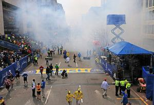2013 Boston Marathon finish line | Photo Credits: Boston Globe/Getty Images