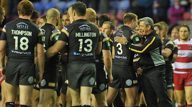 Daryl Powell's, right, Castleford are currently five points behind eighth-placed St Helens