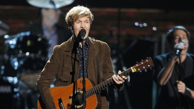 Beck performs during the 2015 Rock and Roll Hall of Fame Induction Ceremony in Cleveland