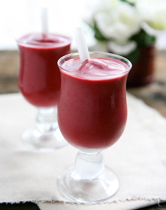 Blackberry Cherry Vanilla Smoothies