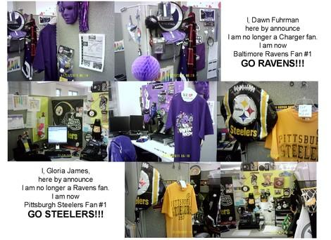 Ravens vs. Steelers: An Office Battle