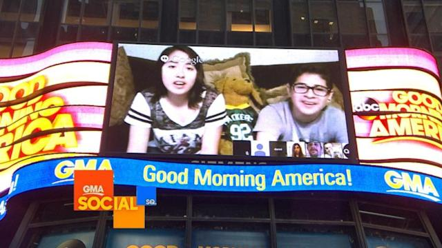 'GMA' Social Square's First Google Hangouts, Selfie