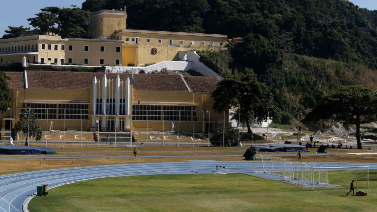 A view of the field at the Brazilian Army Physical Training Centre in Rio de Janeiro