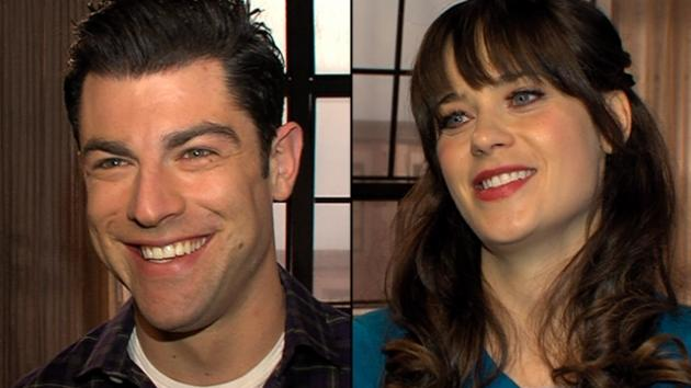 Max Greenfield, Zooey Deschanel -- Access Hollywood