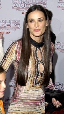 Demi Moore at the LA premiere of Columbia's Charlie's Angels: Full Throttle