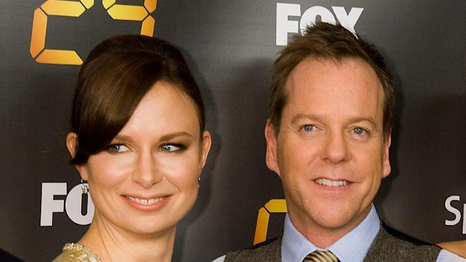 "FILE - This Jan. 14, 2010 file photo shows Mary Lynn Rajskub, left, and Kiefer Sutherland, at the premiere screening for season eight of the television drama ""24"" in New York. Rajskub is reteaming with Kiefer Sutherland for a 12-episode run of ""24: Live Another Day"" to debut next May on Fox. The network said Thursday, Aug. 1, 2013, at the Television Critics Association meeting that Rajskub will reprise her role as Chloe O'Brien, the faithful counter-terrorist sidekick of Sutherland's Jack Bauer character. (AP Photo/Charles Sykes, File)"