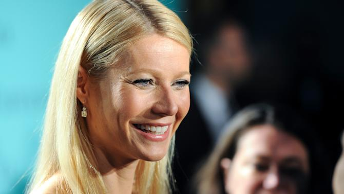 "FILE - This April 18, 2013 file photo shows actress Gwyneth Paltrow at the Tiffany & Co. Blue Book Ball at Rockefeller Center in New York. AOL is making its most substantial dip into original video programming with new series with Sarah Jessica Parker, Gwyneth Paltrow, Hank Azaria and Nicole Richie. The Internet company unveiled 15 new digital series Tuesday, April 30, in a presentation to advertisers in New York. AOL is making a push into original programming in the wake of similar efforts by YouTube, Yahoo and Amazon.  Paltrow and Tracy Anderson will host the Ryan Seacrest-produced series ""Second Chances,"" in which they interview women who've overcome hardship.  (Photo by Evan Agostini/Invision/AP, file)"