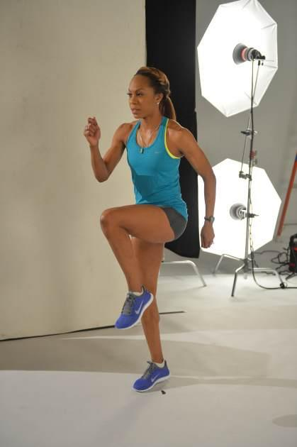 Sanya Richards-Ross shoots her Women's Running photo spread --