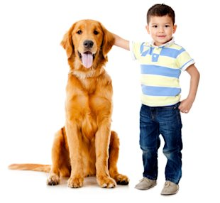 A boy and his dog/iStockphoto