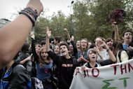 &lt;p&gt;Youths, including public school art and music students, demonstrate on October 23 outside the Greek Parliament in the center of Athens against budget cuts affecting transport to schools. Greek Prime Minister Antonis Samaras went into a huddle with his cabinet ministers to prepare another week of talks with international partners on how best to resolve the country&#39;s debt crisis.&lt;/p&gt;