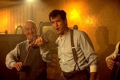 Frank Kelly and Pierce Brosnan in MGM's Evelyn