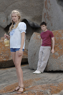Lucy ( Teresa Palmer ) and Maps ( Daniel Radcliffe ) in Warner Independent Pictures' December Boys