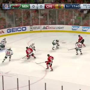 Devan Dubnyk Save on Patrick Sharp (02:22/1st)