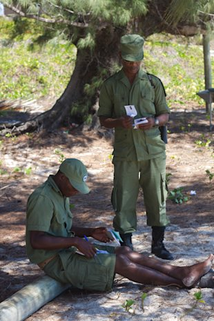 Santa Carolina, Mozambique, conservation officers, officials, Alasdair McCulloch