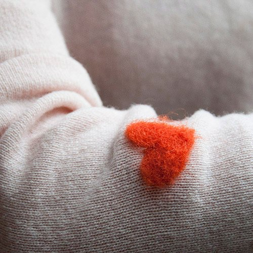Felted Heart Sweater