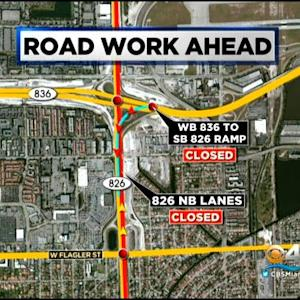 Northbound SR 826 Closures Set For Sunday Night & Monday Morning
