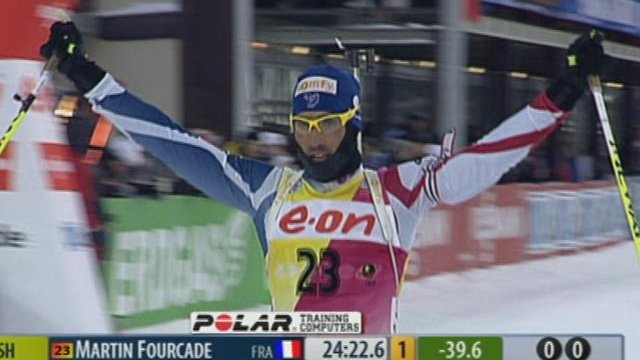Fourcade wins final sprint of year in Khanty-Mansiysk