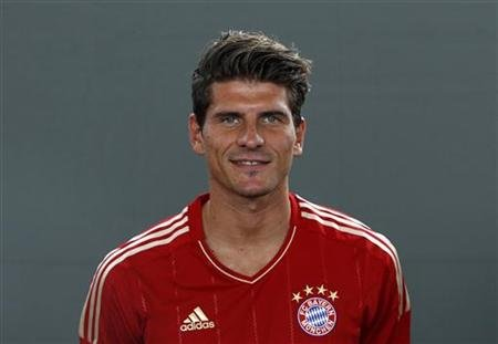Bayern Munich's Gomez is pictured during photo call in Munich