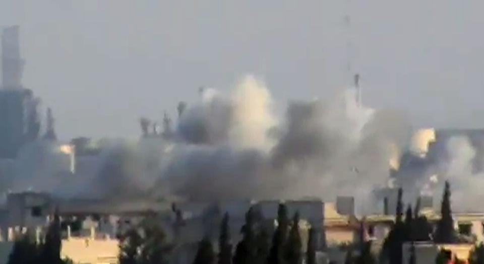 This image made from amateur video released by Shaam News Network and accessed Friday, May 25, 2012 purports to show shelling in Jobar, Syria. (AP Photo/Shaam News Network via AP video) TV OUT, THE ASSOCIATED PRESS CANNOT INDEPENDENTLY VERIFY THE CONTENT, DATE, LOCATION OR AUTHENTICITY OF THIS MATERIAL
