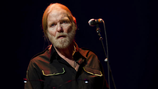 """FILE - In this April 13, 2013 file photo, Gregg Allman performs at Eric Clapton's Crossroads Guitar Festival 2013 at Madison Square Garden, in New York. On Friday, January 10, 2014, music stars and friends will join together for """"All My Friends: Celebrating the Songs & Voice of Gregg Allman,"""" a special concert in honor of the legendary singer, songwriter and musician. The star-studded concert will take place at the Fox Theatre in Atlanta, Georgia. (Photo by Charles Sykes/Invision/AP, file)"""