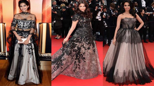 Bollywood black ladies at Cannes