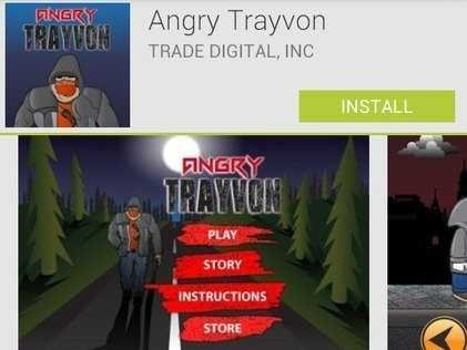 trayvon martin removed android app