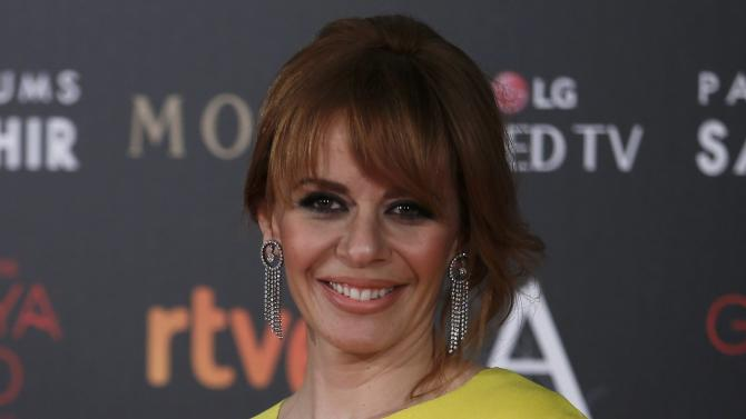 Actress Adanez poses on the red carpet before the Spanish Film Academy's Goya Awards ceremony in Madrid