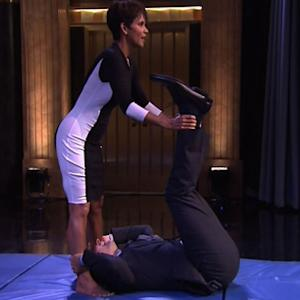 What is Jimmy Fallon Doing With Halle Berry?