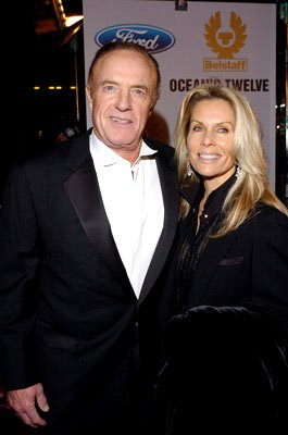 Premiere: James Caan with Linda Stokes at the Hollywood premiere of Warner Bros. Ocean's Twelve - 12/8/2004