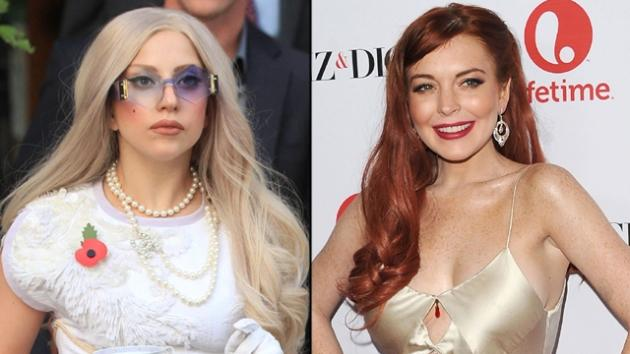 Lady Gaga, Lindsay Lohan -- Getty Images