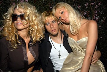 Pamela Anderson, Paris Latsis and Paris Hilton 13th Annual Elton John AIDS Foundation Oscar Party West Hollywood, CA - 2/27/05