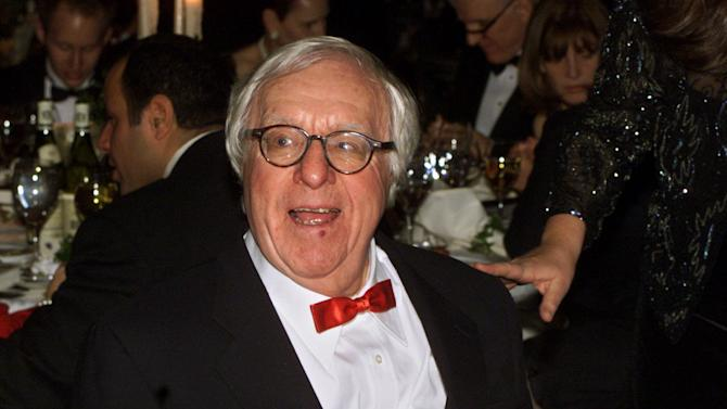 """FILE - This Nov. 15, 2000 file photo shows science fiction writer Ray Bradbury at the National Book Awards in New York. Two pieces released this fall were written late in life by the science fiction/fantasy master, who died in June at age 91. Bradbury contributed """"The Book and the Butterfly,"""" an introduction to this year's edition of """"The Best American Nonrequired Reading."""" And he conceived a stark encounter between a young boy and a man he believes is Santa Claus in """"Dear Santa,"""" which appears in the holiday issue of Strand Magazine, based in Birmingham, Mich.  (AP Photo/Mark Lennihan, file)"""