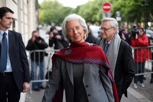 International Monetary Fund chief Christine Lagarde arrives for a second day of the court hearing at a special court house, in Paris, Friday, May 24, 2013.  Lagarde faced questioning at a special Pari