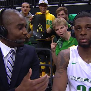Oregon men's basketball's Elgin Cook after Ducks' win vs. Savannah State