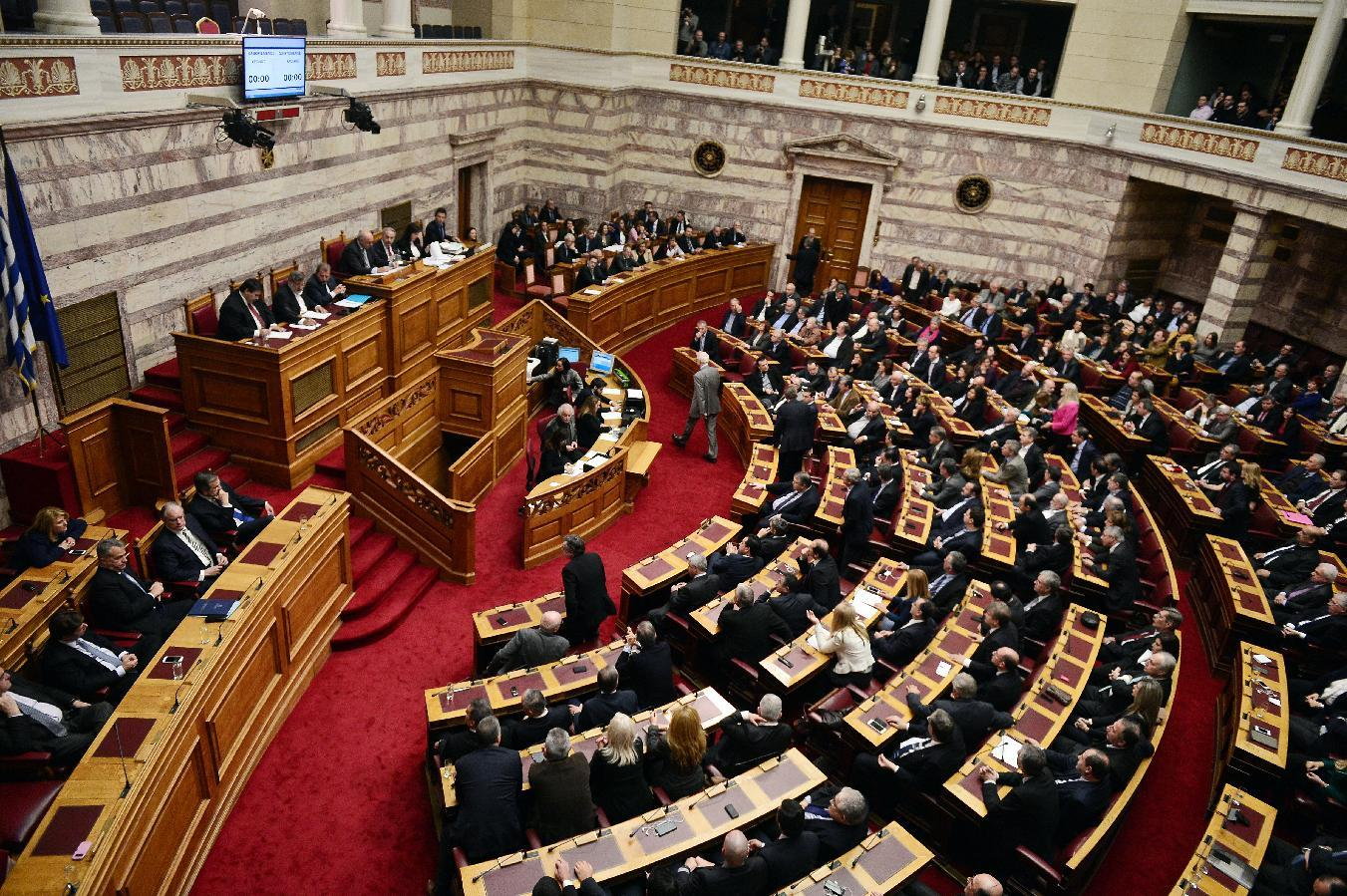 Greek parliament fails for second time to elect a president