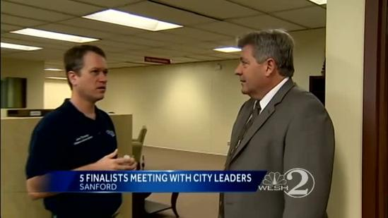 Finalists for Sanford police chief meet with leaders