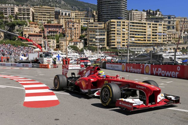 Ferrari Formula One driver Felipe Massa of Brazil takes a corner during the first practice session of the Monaco F1 Grand Prix
